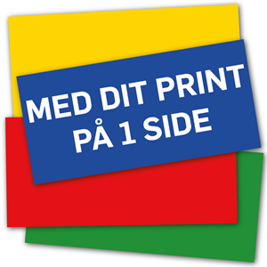 AluBond 3 mm  62,5 x 29,8 cm inkl UV-Print på 1 side