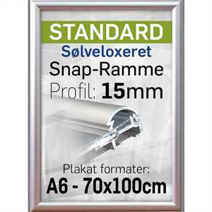 Snapramme med 15mm profil - A5
