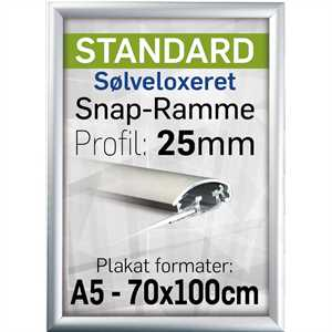 Snapramme med 25mm profil - A3