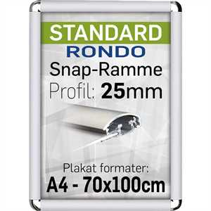 Snapramme med 25mm Rondo profil
