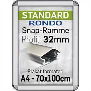 Snapramme med 32mm Rondo profil