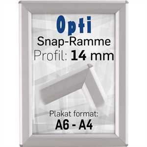 Opti snapramme med 14mm profil  - A6