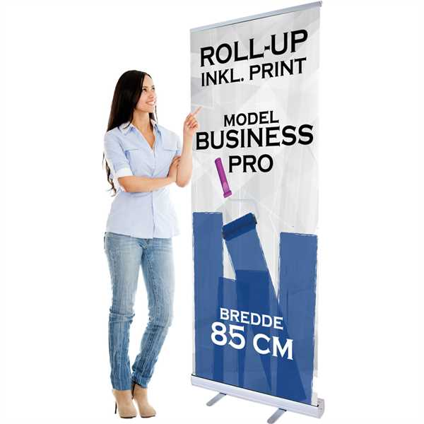 Business PRO Roll-Up 85 cm bred inkl. banner og print