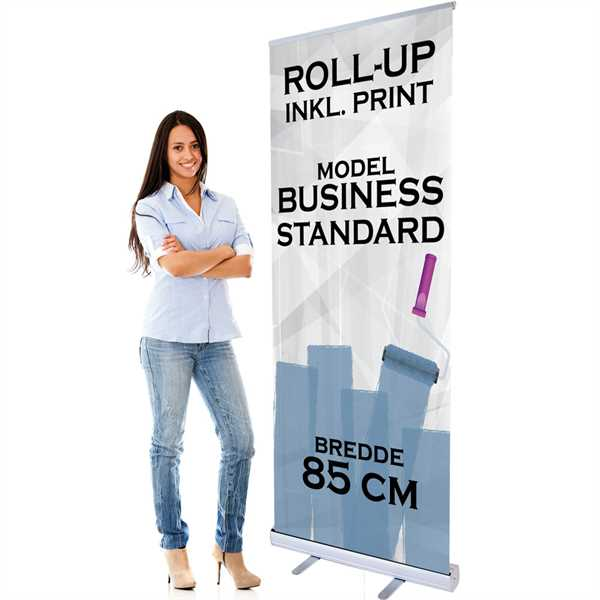Business Roll Up 85 cm bred med print